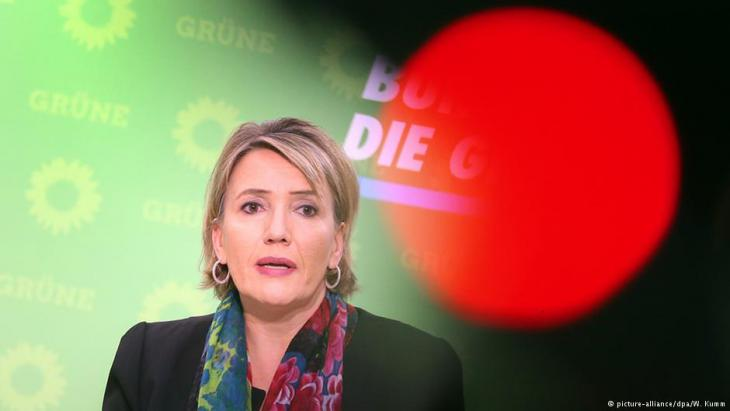 Grünen-Parteichefin Simone Peter; Foto: picture-alliance/dpa
