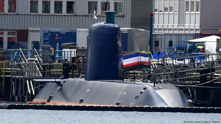 Neues für den Export an Israel gefertigtes U-Boot am Ableger von Thyssen Krupp Marine Systems in Kiel; Foto: dpa