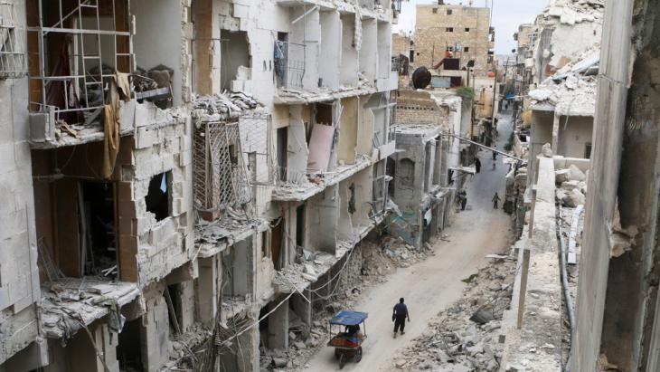 Zerstörungen in der Altstadt von Aleppo; Foto: Reuters/A. Ismail