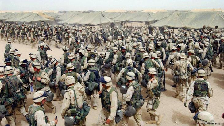 US-Soldaten während der Invasion im Irak (2003); Foto: AFP/Getty Images