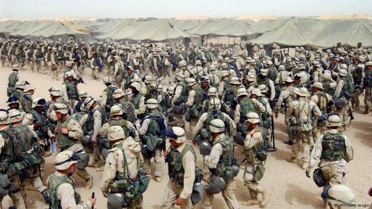 US-Soldaten während der Invasion im Irak (2003); Foto: AFP/Getty Images