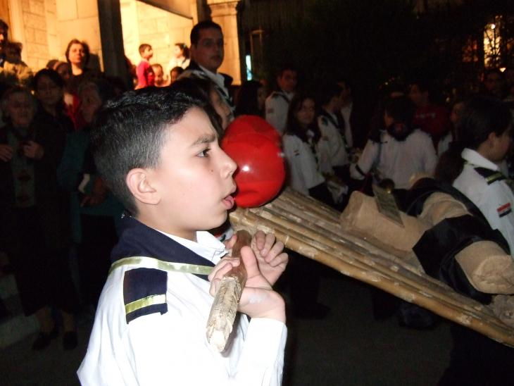 Feierlichkeiten an Karfreitag in einer Kirche bei Damaskus; Foto: Mende