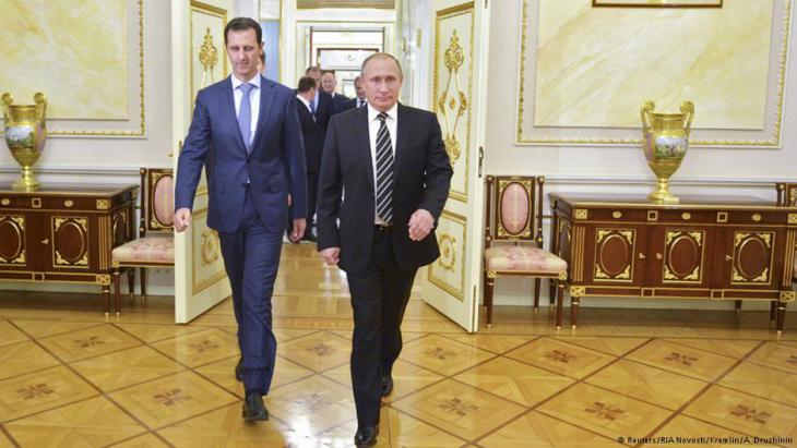 Syriens Präsident Baschar al-Assad (l.) und Russlands Präsident Wladimir Putin bei einem Treffen im Oktober 2015; Foto: Reuters