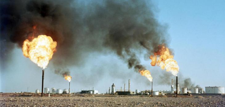 Zentrum der algerischen Erdölindustrie in Hassi Messaoud; Foto: dpa/picture-alliance