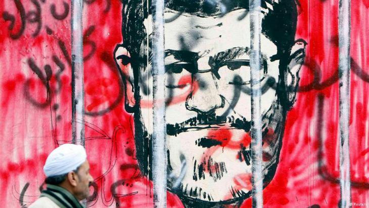 Graffiti in Kairo zeigt inhaftierten Ex-Präsident Mohammed Mursi; Foto: Reuters