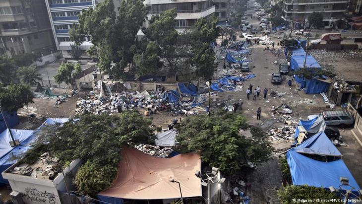 Der Rabia-al-Adawiyya-Platz in Kairo nach der Räumung des Protestcamps; Foto: AFP/Getty Images