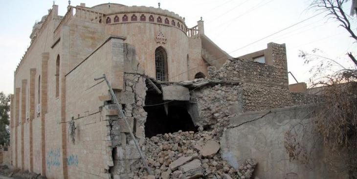 Die Terrormiliz IS zerstörte eine Vielzahl der Kirchen im Irak;Foto:picture-alliance/dpa/B.Schwinghammer