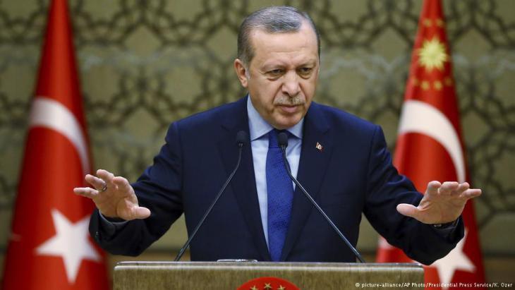 Der türkische Präsident Erdogan; Foto: picture-alliance/AP
