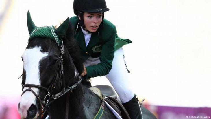 Die saudische Reiterin Dalma Rushdi H Malhas während der Olympischen Jugendspiele 2010; Foto: