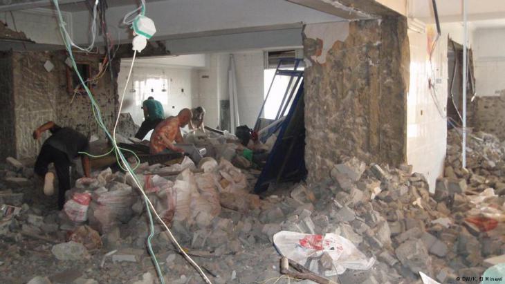 Uni-Kinderklinik Abu el Rish in Kairo im Umbau; Foto: Karin El Minawi/DW