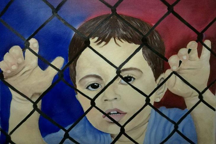 "Bild mit dem Titel ""Child on Nauru"" von Abbas al-Aboudi; Foto: Abbas al-Aboudi"