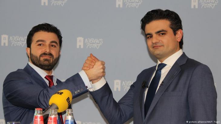 """Die Initiatoren von """"Denk"""": Selcuk Ozturk (l.) und Tunahan Kuzu; Foto: picture-alliance"""