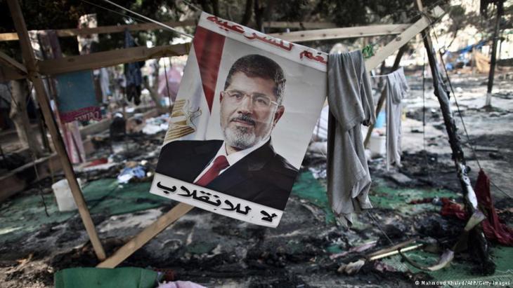 Gewaltsam geräumtes Protest-Camp Rabaa al-Adawiyya in Kairo; Foto: AFP/Getty Images