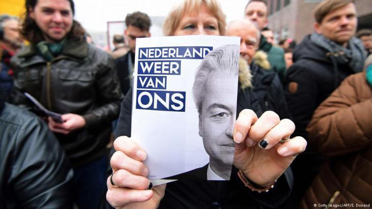 Anhänger Wilders im holländischen Spijkenisse; Foto: AFP/Getty Images