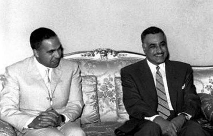 Abdelhamid al-Sarraj und Gamal Abdel Nasser