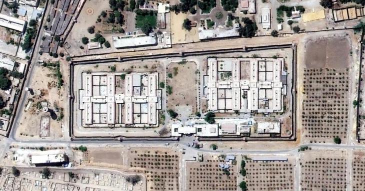 Blick auf das berüchtigte Al-Aqrab-Gefängnis bei Kairo; Foto: HRW
