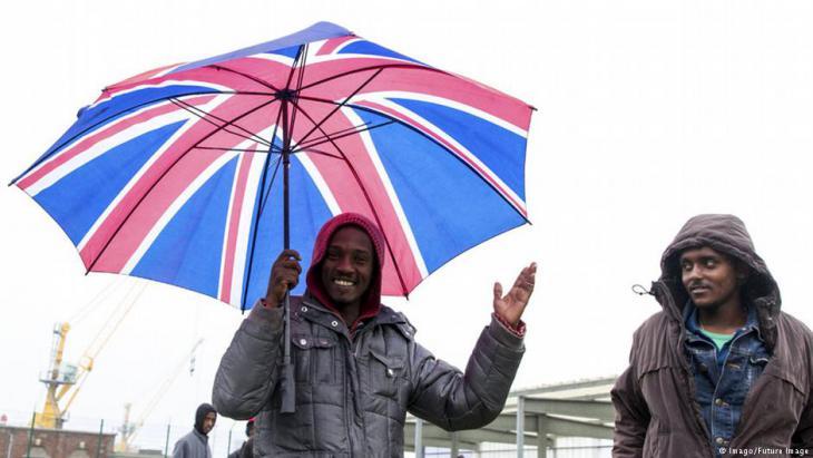 Flüchtlinge auf dem Weg nach Großbritannien; Foto: Imago