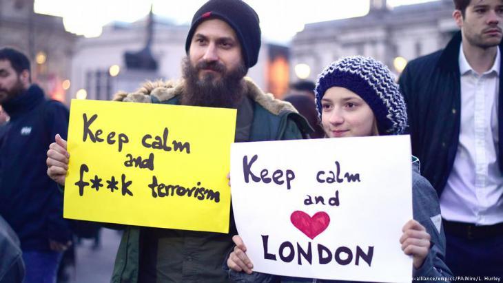 Gedenkveranstaltung am Trafalgar Square in London; Foto: L. Hurley/picture-alliance