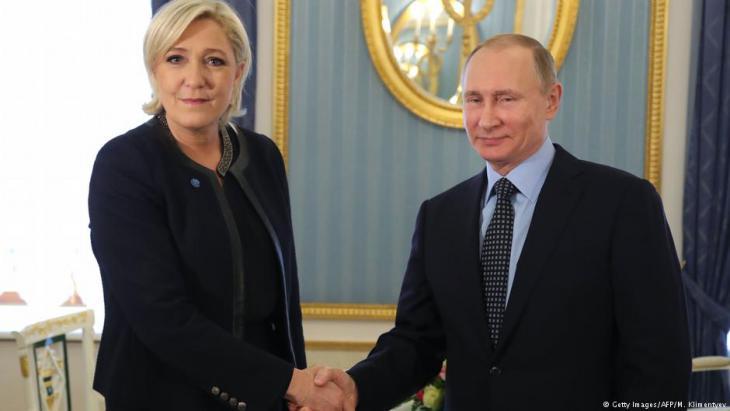 Marine Le Pen zu Besuch bei Wladimir Putin in Moskau; Foto: Getty Images/AFP