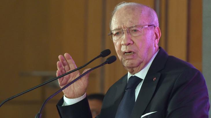 Tunesiens Präsident Beji Caid Essebsi; Foto: Fethi Belaid/AFP/Getty Images