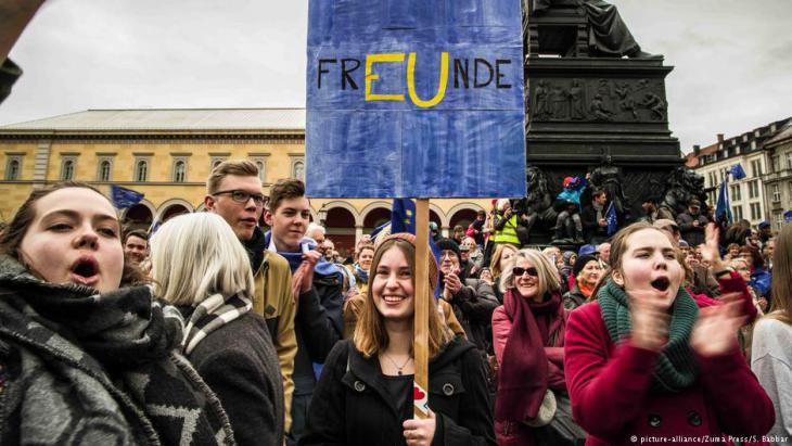 """Pulse of Europe"" Demonstration in München am 19. März 2017"