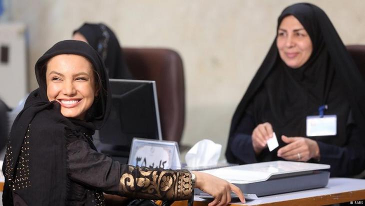 Eine junge Frau registriert sich als Kandidatin für die iranischen Präsidentschaftswahl; Foto: FARS