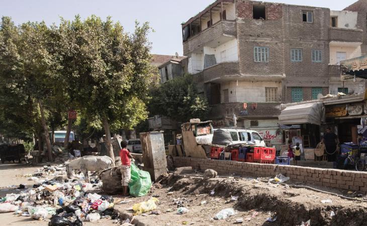 Die Peripherie von Kairo ist bitterarm. Jeder Vierte lebt hier von weniger als zwei Dollar pro Tag; Foto: Flemming Weiß-Andersen