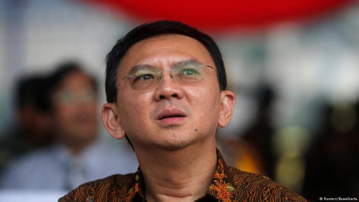 Der bisherige christliche Amtsinhaber Basuki Tjahaja Purnama nach seiner Wahlniederlage in Jakarta; Foto: Reuters