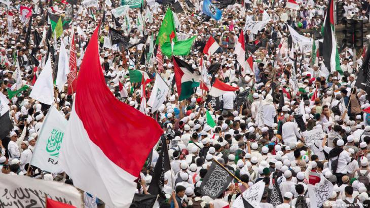 Porteste gegen Ahok am 31.3.2017 in Jakarta; Foto: Getty Images