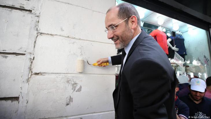 Abderrezak Makri während einer Wahlkampfveranstaltung am 9. April in Algiers; Foto: Imago/Zuma Press