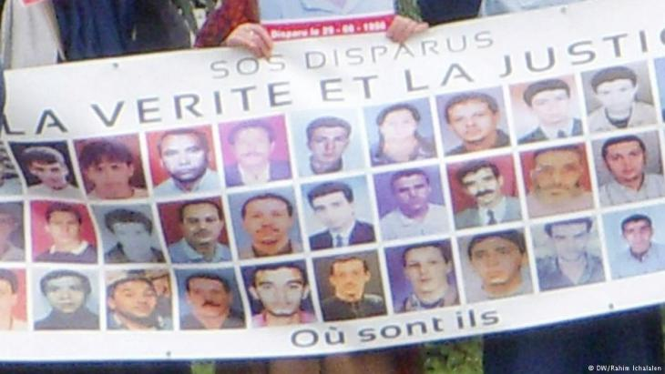 Kundgebung in Algiers für die Verschwundenen des Bürgerkriegs; Foto: DW