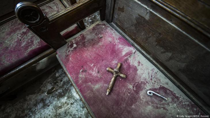 Nach der Explosion in koptischer Kirche Peter und Paul in Kairo im Dezember 2016; Foto: AFP/Getty Images