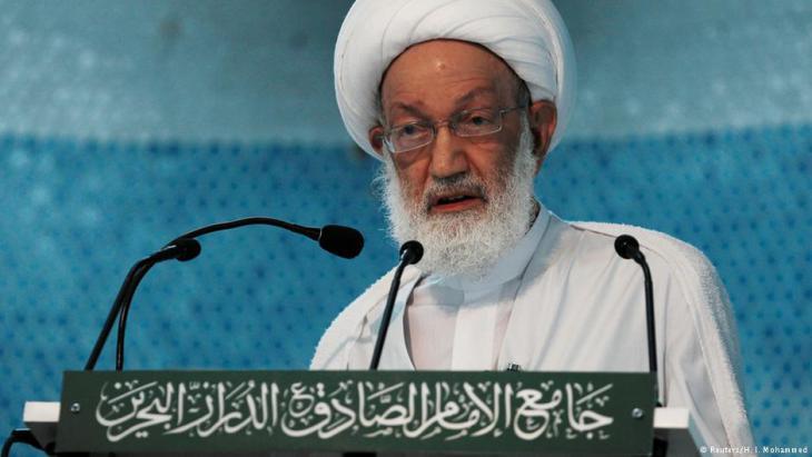 Dder geistige Führer der schiitischen Gemeinde Bahrains, Scheich Isa Ahmed Qassim; Foto: Reuters