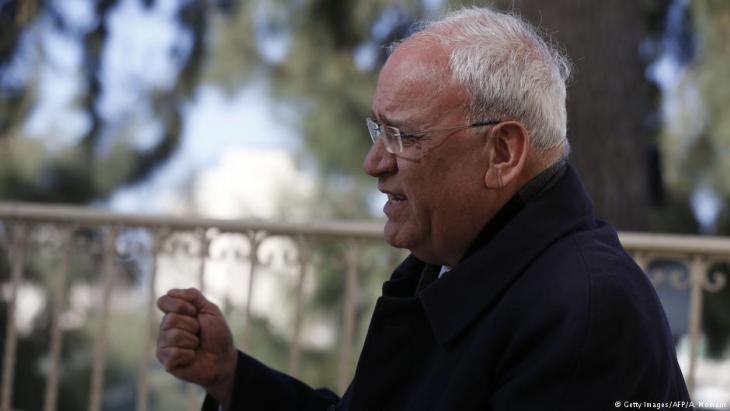 Der palästinensische Chefunterhändler Saeb Erekat; Foto: Getty Images/AFP