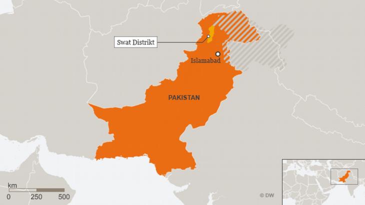 Karte Swat Distrikt Pakistan