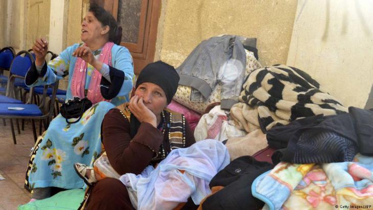 Aus dem Sinai geflohene Kopten in Ismailiya