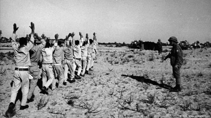 Ägyptische Gefangene im Sechstagekrieg; Foto: Central Press/Getty Images