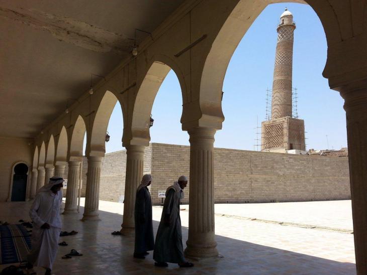 Die Al-Niuri-Moschee vor ihrer Zerstörung durch den IS; Foto: EPA