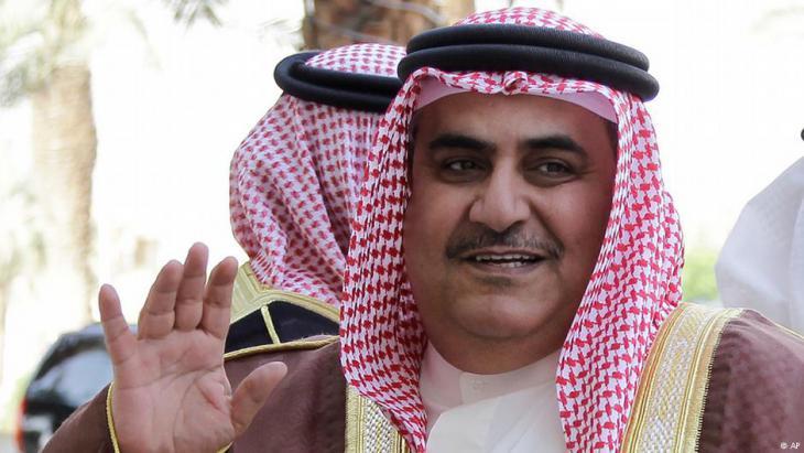 Bahrains Außenminister Chalid bin Ahmed al-Chalifa; Foto: AP