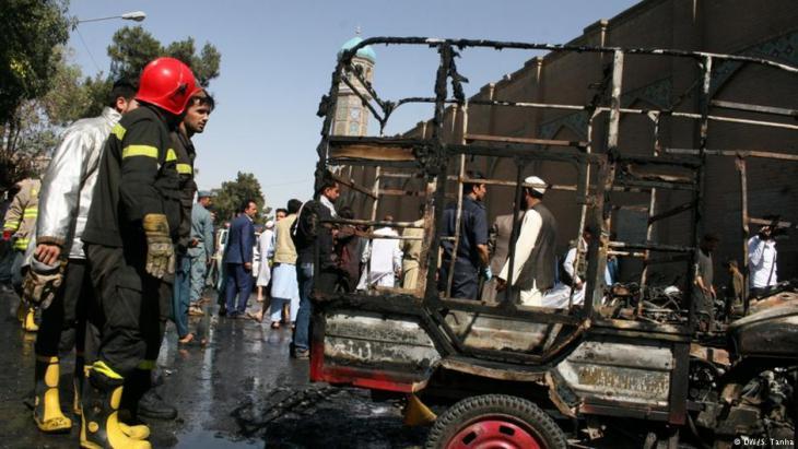 Nach dem Anschlag auf eine Moschee im westafghanischem Herat mit sieben Toten am 6.06.2017; Foto: DW/S. Tanha