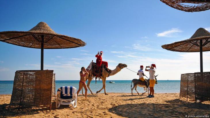 Ferienressort am Roten Meer in Ägypten; Foto: dpa/picture-alliance