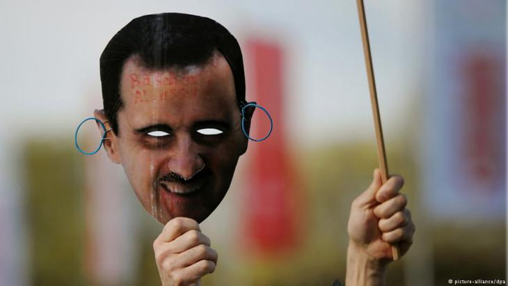 Demonstration gegen den syrischen Diktator Baschar al-Assad in Hannover; Foto. picture-alliance/dpa