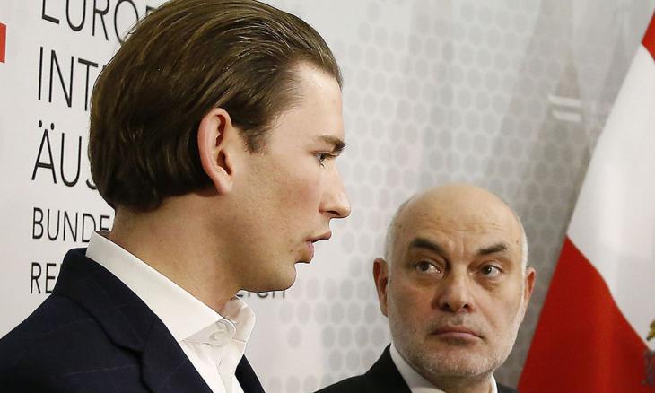 Ednan Aslan (r.) mit Österreichs Außenminister Sebastian Kurz bei einer Pressekonferenz; Foto: Bild: Österreichisches Außenministerium/Dragan Tatic