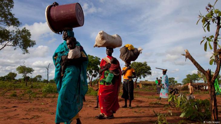 Flüchtlinge aus den Nuba-Bergen in der Provinz Süd-Kordofan an der Grenze zum Südsudan; Foto: Getty Images
