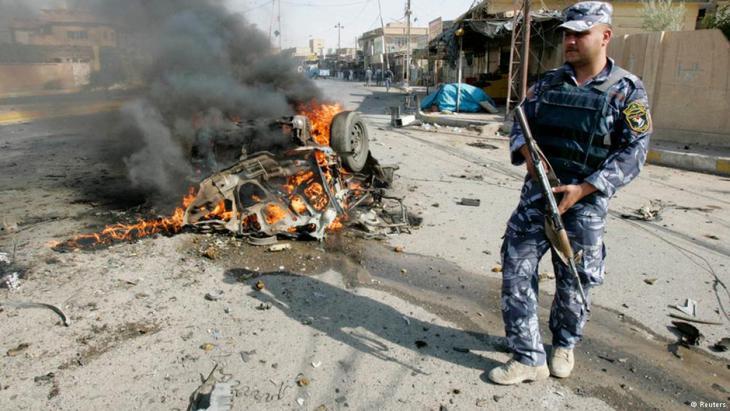 ثقافة العنف في العراق. لقد كان أكثر الأيام دموية في العراق منذ آيار/ مايو 2010، فقد قُتل أكثر من 115 شخصاً وأُصيب أضعاف هذا العدد بجراح في تفجيرات الاثنين (22 تموز/ يوليو 2012)