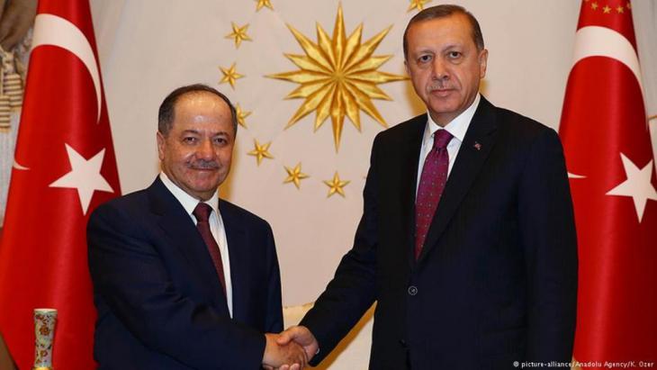 Barzani trifft Erdogan in Ankara. Foto: picture-alliance/Anadolu Agency/K.Özer