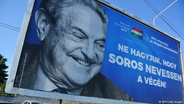 "Anti-Soros-Kampagne in Ungarn: ""Let's not let Soros have the last laugh""; Foto: AFP/Getty Images"