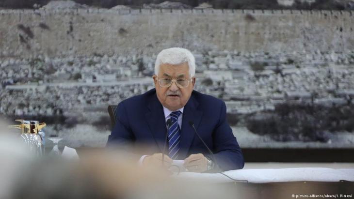 Palästinas Präsident Mahmud Abbas; Foto: picture-alliance/abaca