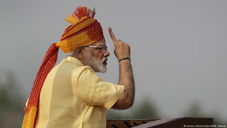 Indiens Premierminister Narendra Modi; Foto: picture-alliance/dpa