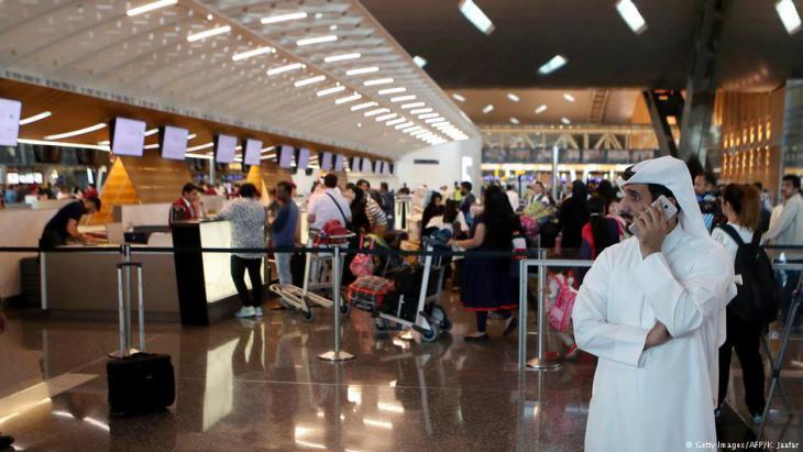 Passengers checking in at Hamad International Airport in Doha, Qatar, June 2017 (photo: Karim Jaafar/AFP/Getty Images)